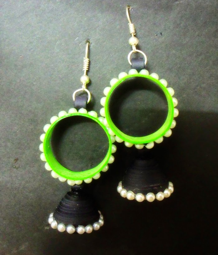paper quilling jhumka designs photos - Earring Design Ideas