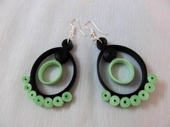 paper quilling jewellery earrings designs
