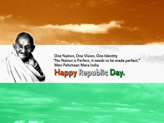 Happy Republic Day Mahantma Gandhi Wallpapers
