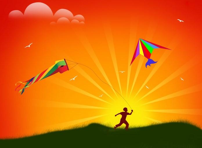 happy sankranti kite flying festival images
