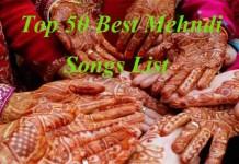 mehndi songs list for wedding