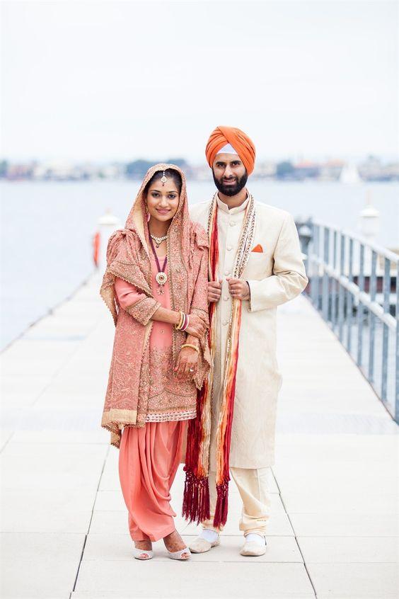 punjabi wedding dress for bride images