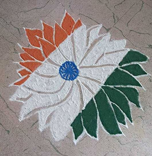 flag rangoli designs for republic day