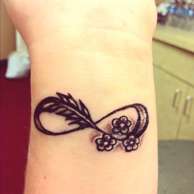 most beautiful wrist tattoo design