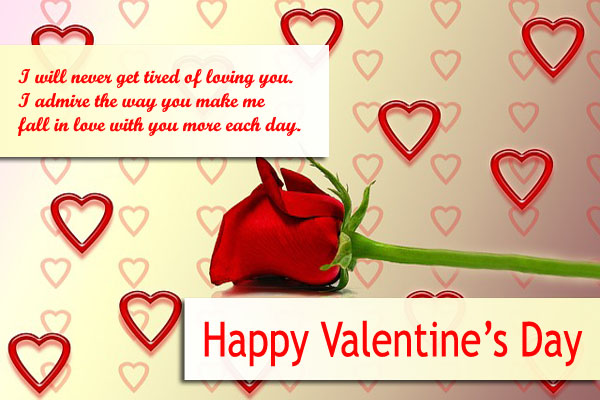 happy valentines day greeting card