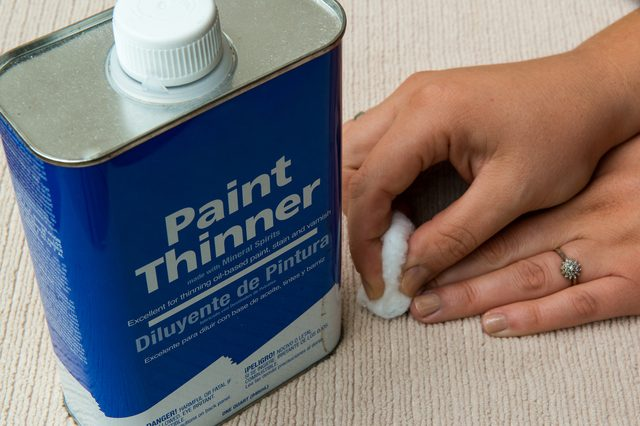 paint thinner works as nail paint remover
