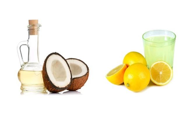 Lemon and coconut oil Massage