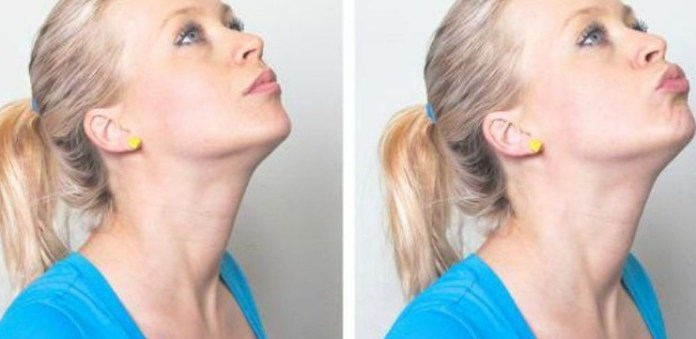 chin lifts exercise to loose face fat