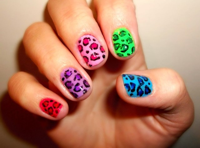 leopard nail art designs