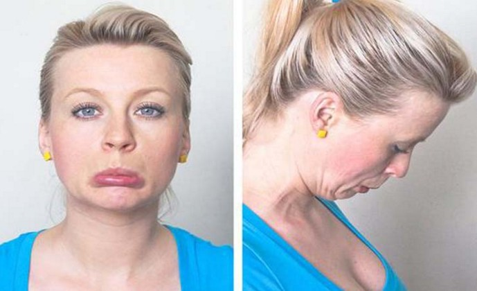lip pull exercise to loose face fat
