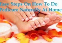 easy steps to do pedicure at home