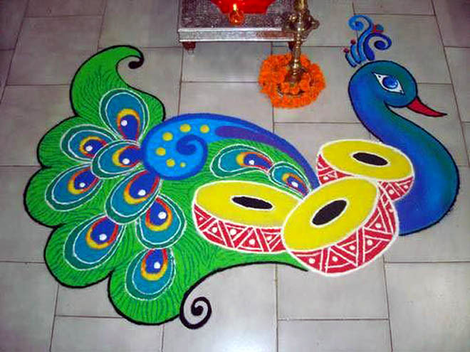 special diwali rangoli design
