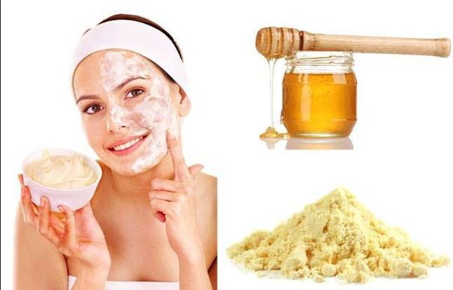 Gram Flour Acts as A Scrubber