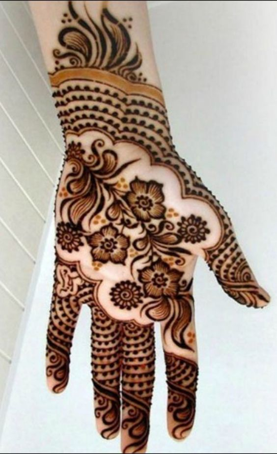arabic heena designs easy and stylish