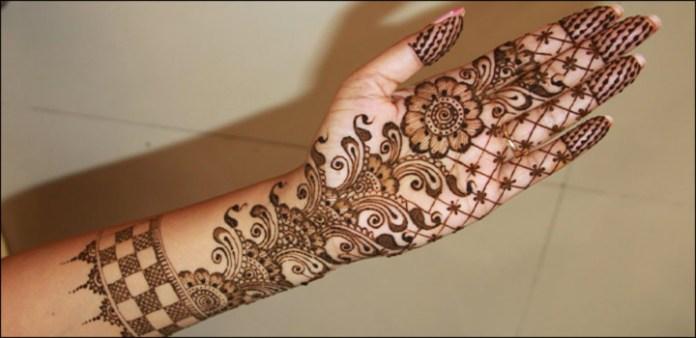 flower designs mehendi for hands