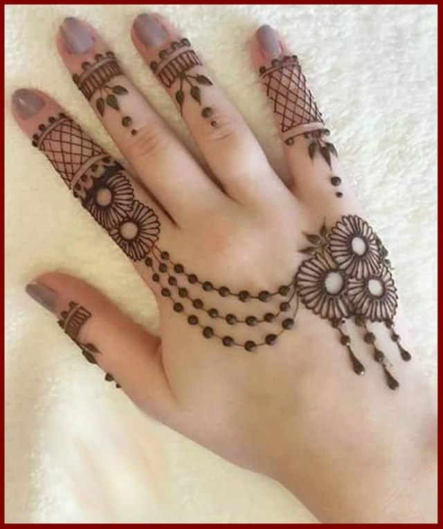 Mehndi Designs Of Front Hand : Top latest arabic mehendi design pictures for hands