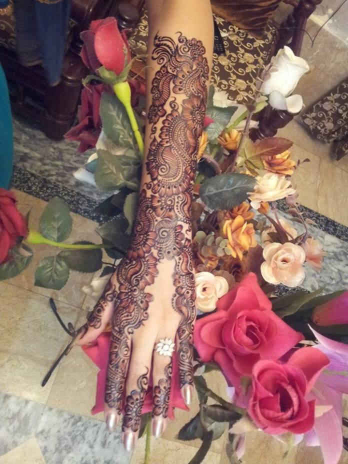 arabic trendy mehendi designs