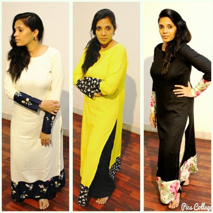 designer long straight kurti