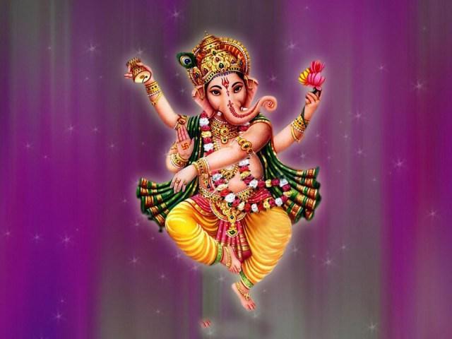 lord ganesha dancing pic