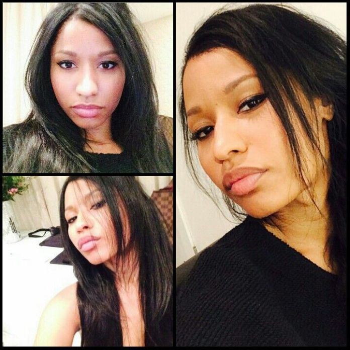 Nicki Minaj Home Look Without Makeup Selfie Queen