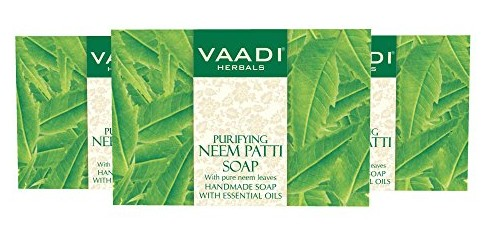 Vaadi Herbals Neem -Tulsi Soap With Vitamin E And Tea Tree Oil