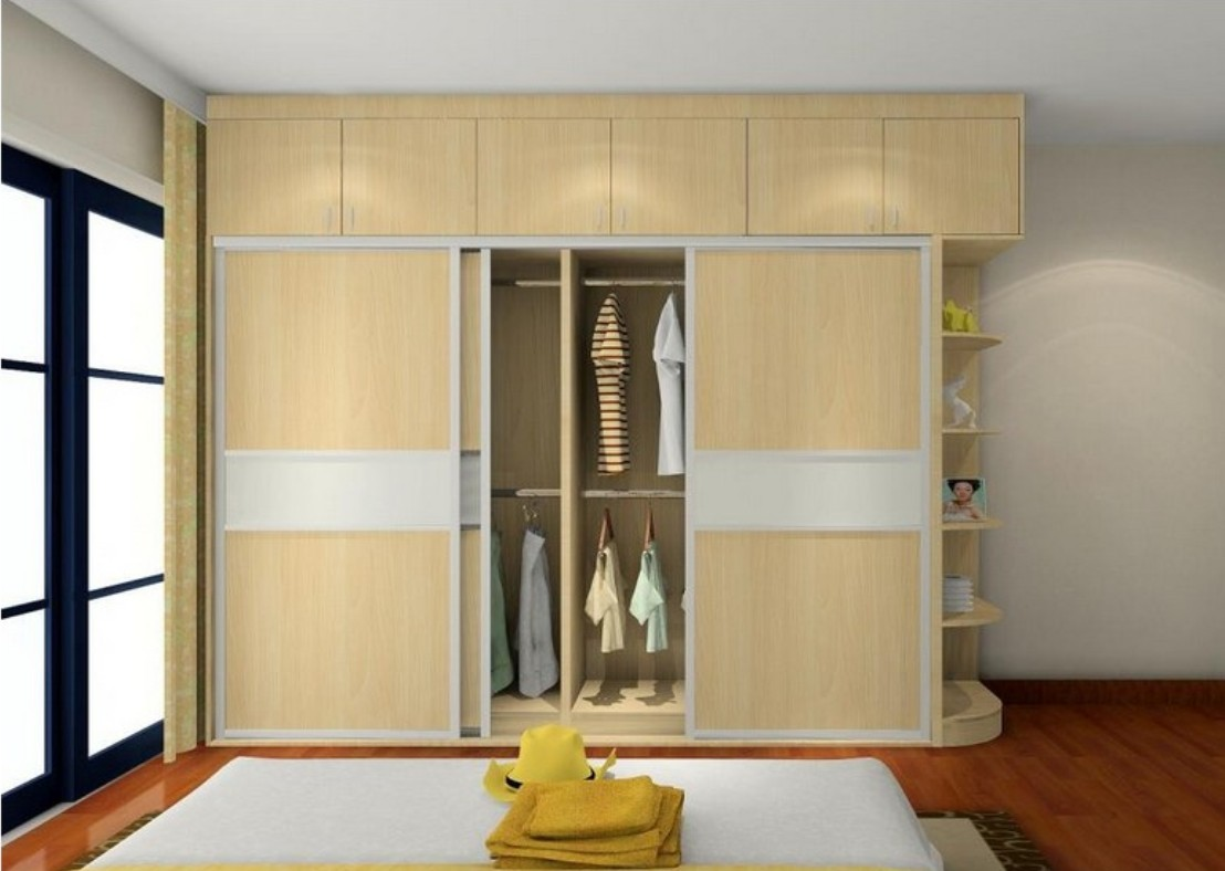 Bedroom wardrobe designs - The Sliding Doors In The Wardrobes Makes The Room Very Spacious The Bedroom Wardrobes Design Are So Simple And Sober That It Looks Really Great And Make You