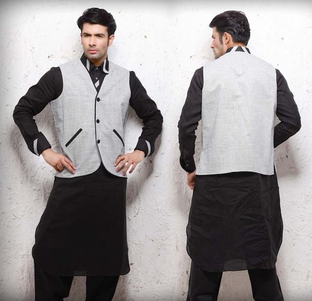 plain kurta with jacket designs