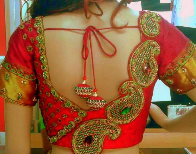 embellished blouse design