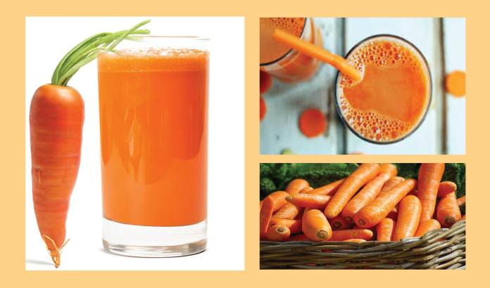 carrot juice for clear skin