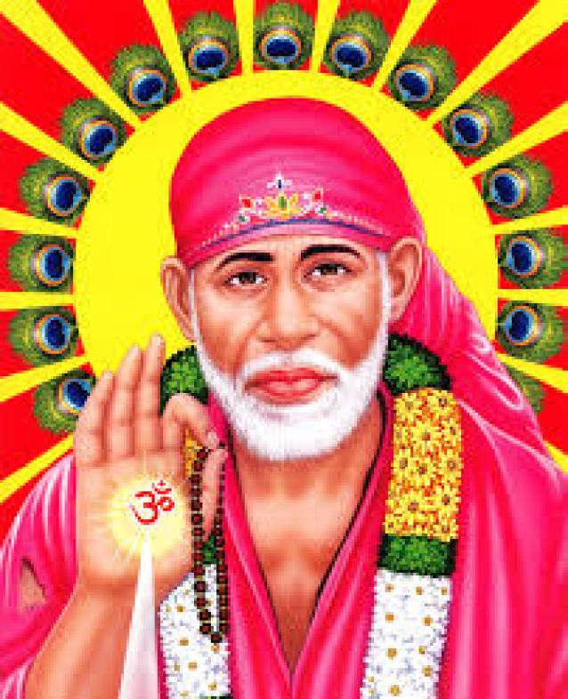 sai baba colorful images