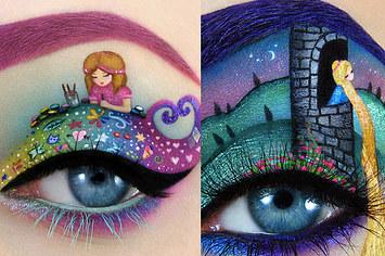 barbie eye make up