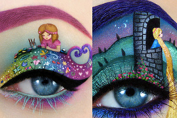barbie eye make up