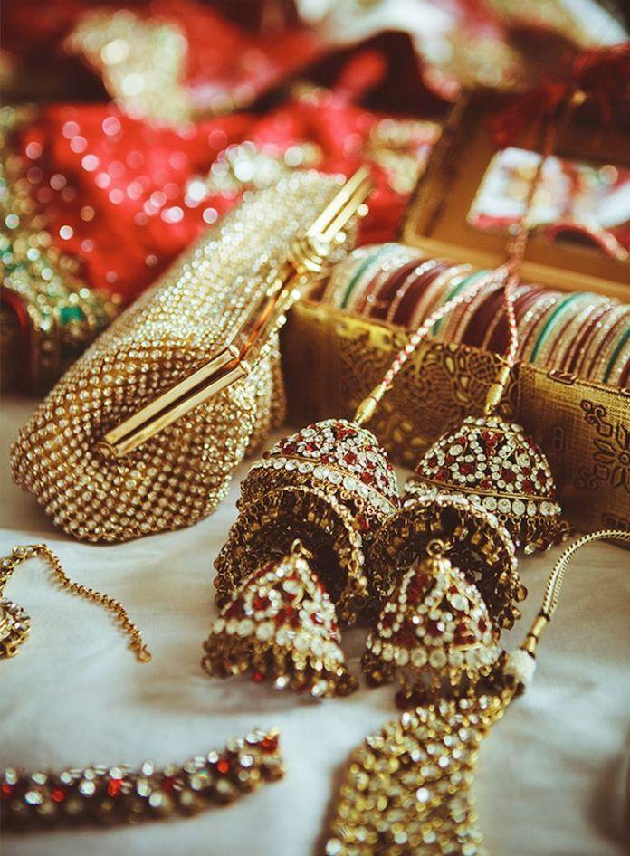 beautiful golden punjabi wedding kalire
