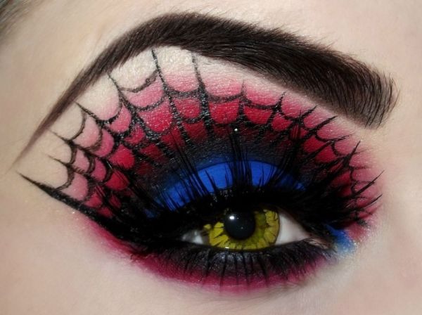 spider man eye make up