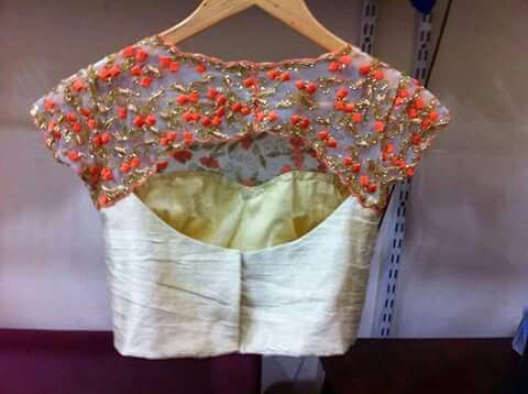 back design blouse design