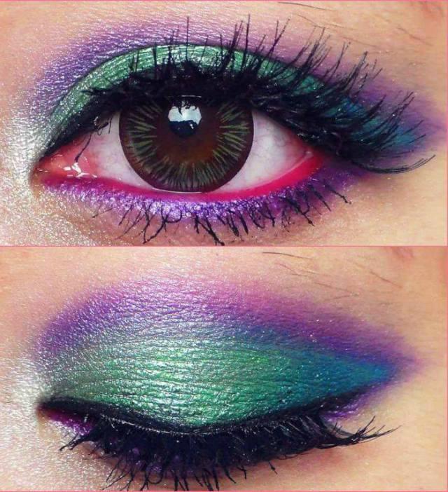 mermaid eye make up images
