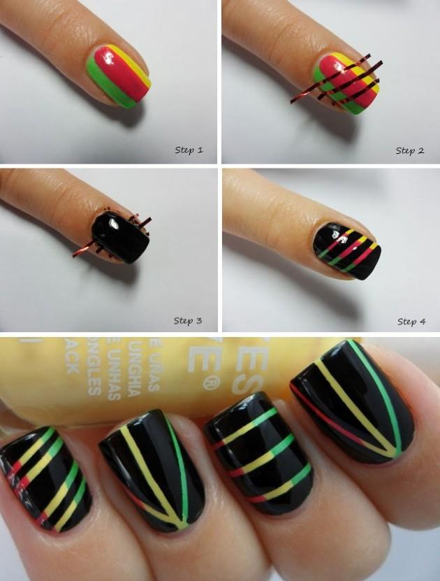matte nail art design