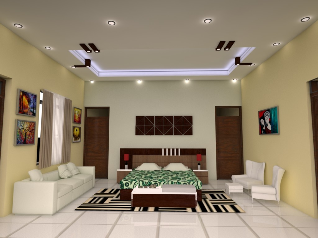 25 latest false designs for living room bed room for Living hall interior design