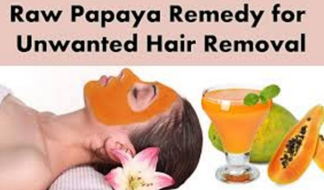 Raw Papaya To Remove Facial Hair