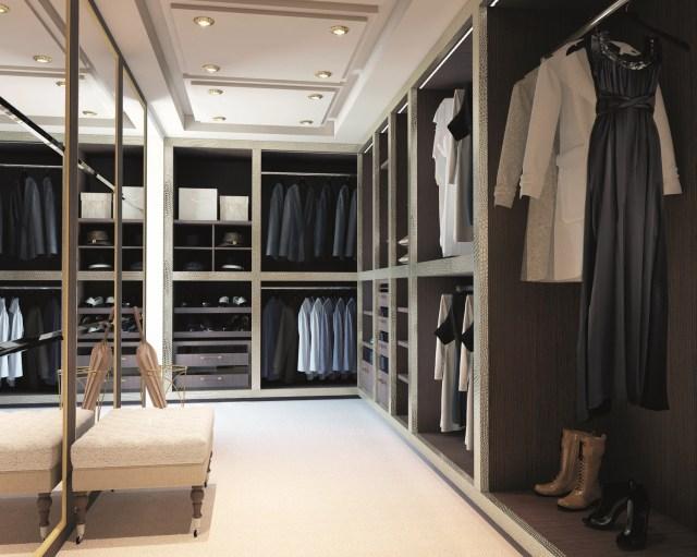walk in idea for bedroom wardrobe design