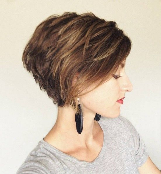 messy short length hairstyle