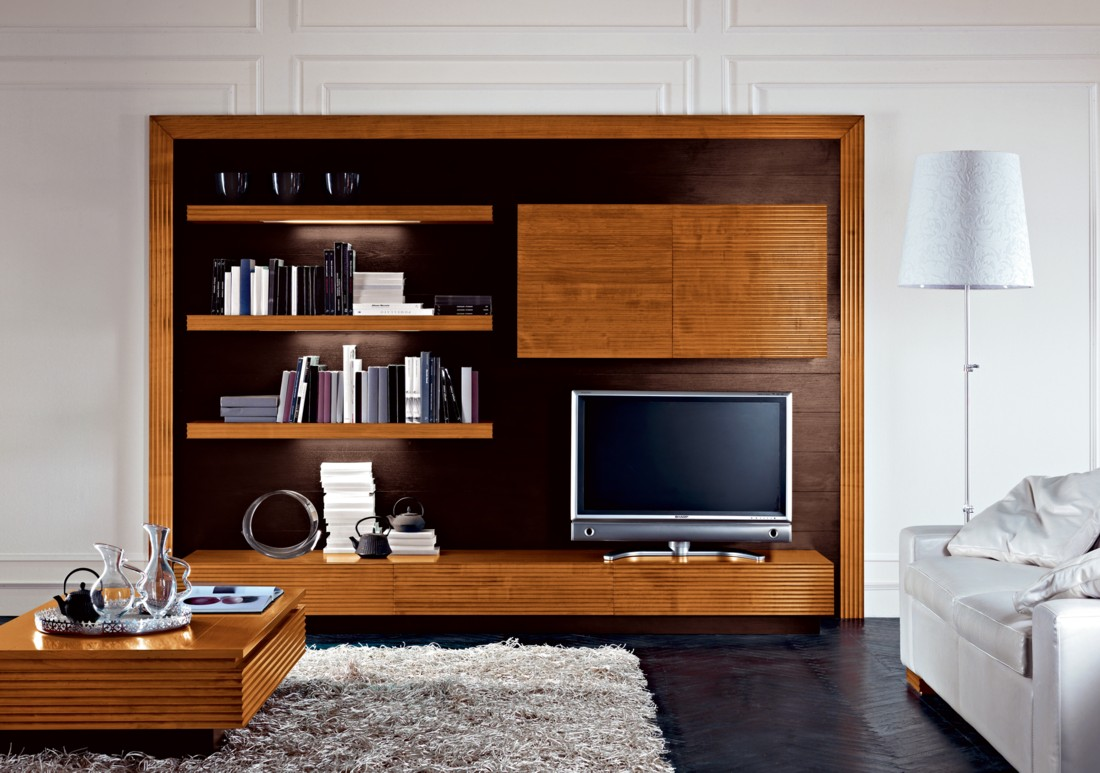 20 modern tv unit design ideas for bedroom living room for Cabinet designs for small bedroom