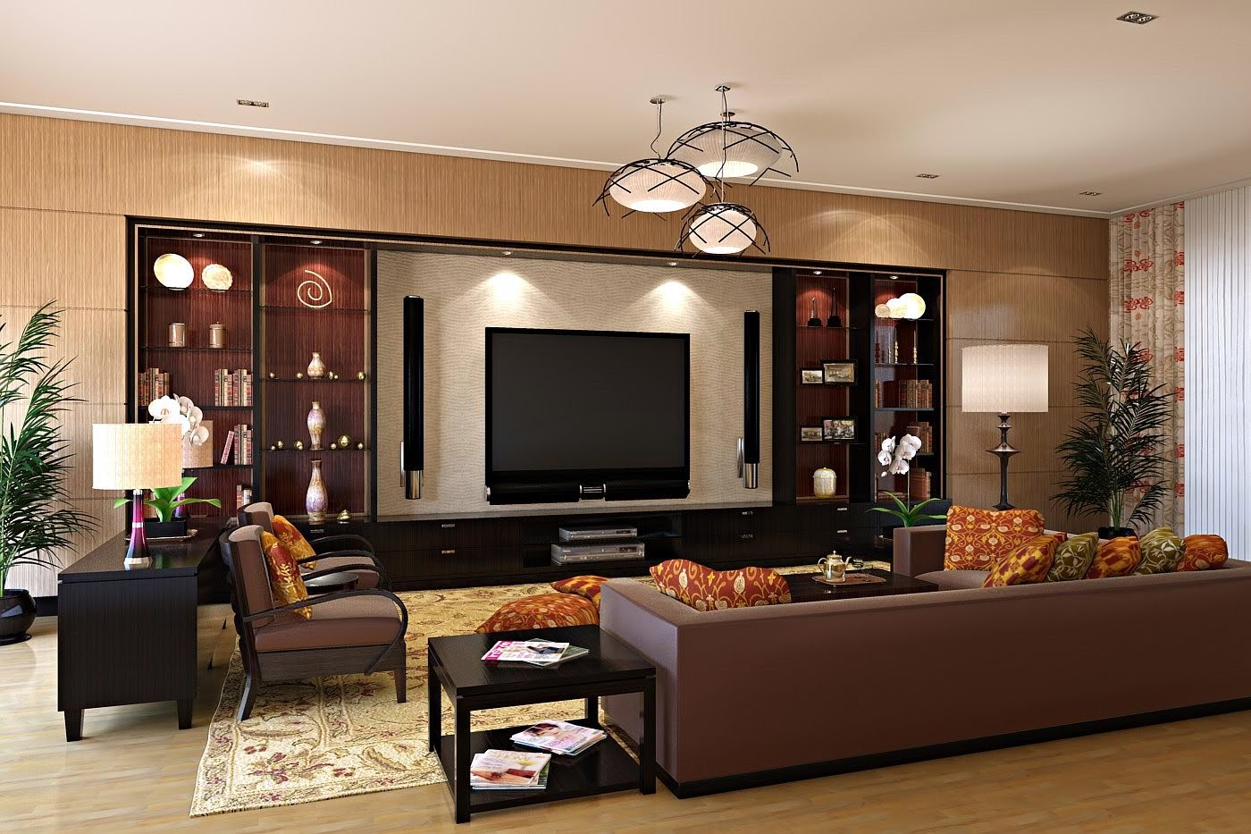 20 modern tv unit design ideas for bedroom living room for Bedroom ideas tv