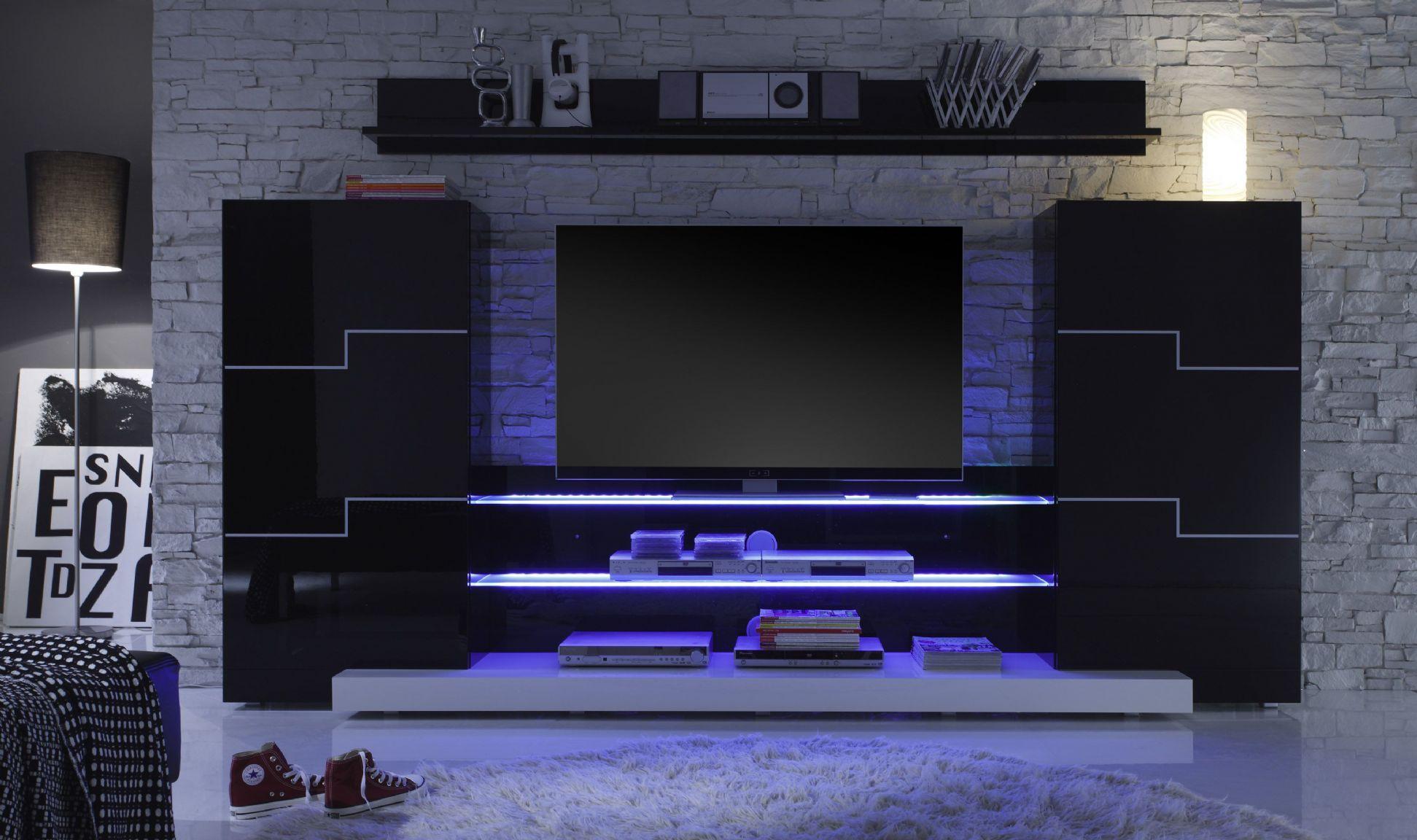 20 modern tv unit design ideas for bedroom living room - Schwarze wohnwand ...