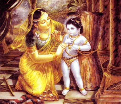 Hindu God Yashoda And Krishna Beautiful Janmashtmi