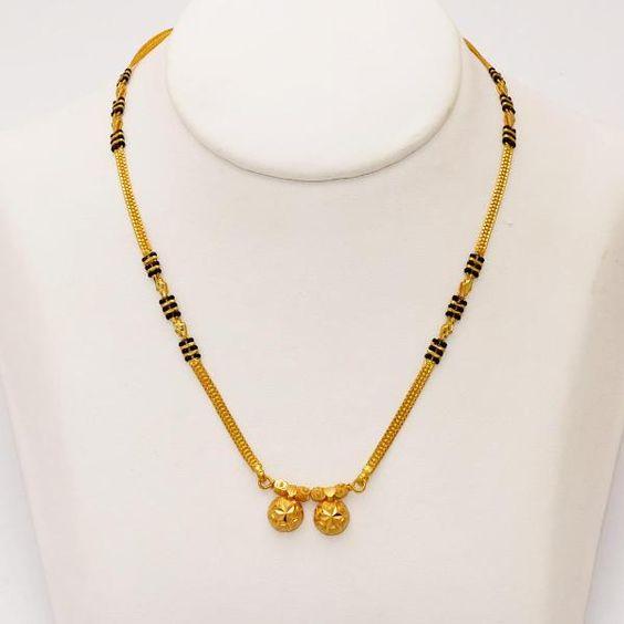 maharashtrian gold mangalsutra design