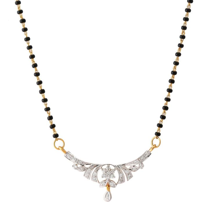 diamond mangalsutra design