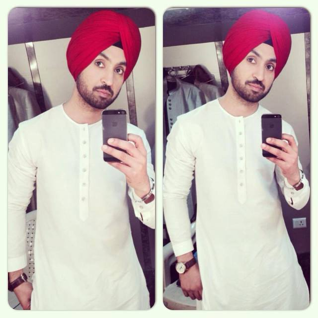 diljit-dosanjh-selfie-in-kurta-pajama