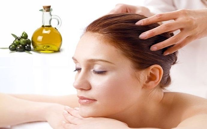 olive oil massage for soft hair