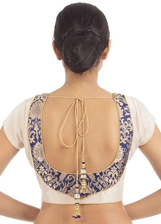 u shape blouse neck design